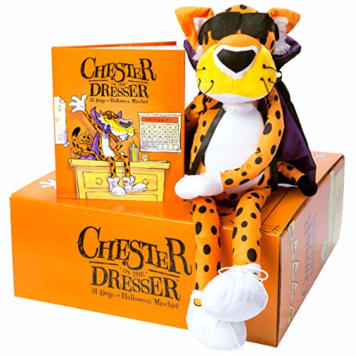 Cheetos Chester On The Dresser Halloween Book with Chester Cheetah Stuffed Animal