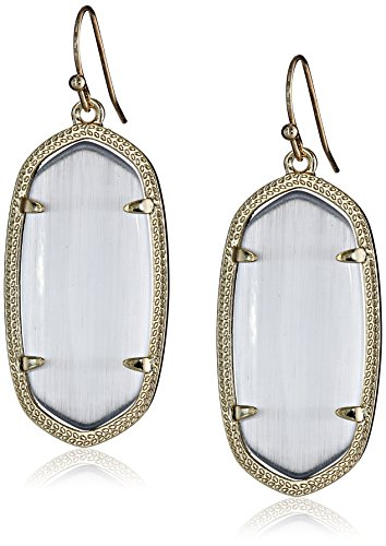 Kendra Scott Signature Elle Earrings in Gold Plated and Slate Glass from Kendra Scott