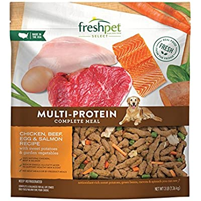 Freshpet Healthy & Natural Dog Food, Fresh Multiprotein Recipe, 3lb