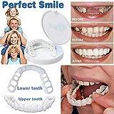 Best Fake Teeth - Cosmetic Teeth Veneer Instant Smile 2Pcs Comfort Fit Review