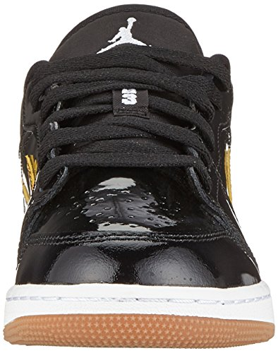 Nike Mädchen Air Jordan 1 Low (GG) Sneaker, Schwarz (Black/Metallic Gold White 032), 38 EU