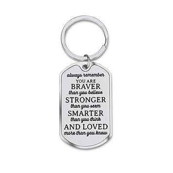 Amazon.com: Llavero inspirador de regalo para hijo, hija ...