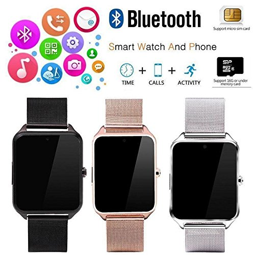 Amazon.com: Bluetooth Smart Watch GSM SIM Phone Mate Z60 Stainless Steel For IOS Android: Cell Phones & Accessories