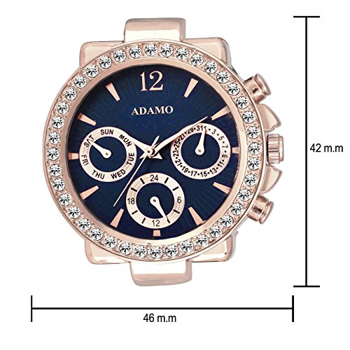 51at0Kr31GL. SS500  - ADAMO Multifunction Analog Blue Dial Women's Watch - A208KB05
