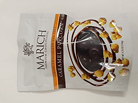 Marich Dark Chocolate Sea Salt Caramel Popcorn 4.75 Ounce ()