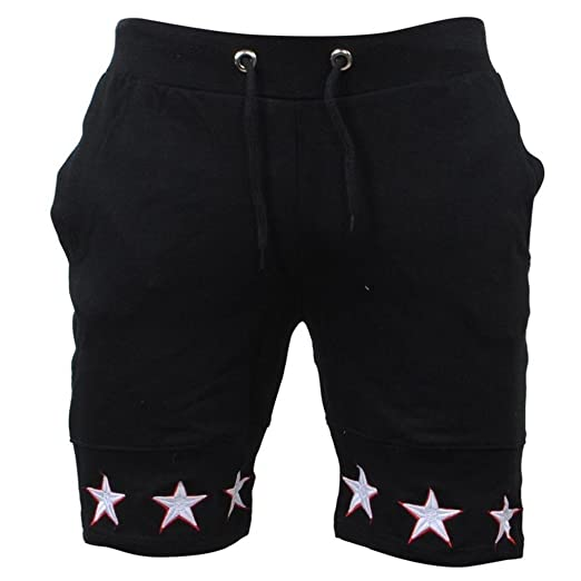 fc4c1c5cb95c Pervobs Men Shorts Summer Loose Men Star Print Drawstring Casual Beach Work  Short Trouser Shorts Pants