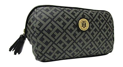 Tommy Hilfiger TH Black/Tan Cosmetic Bag Makeup