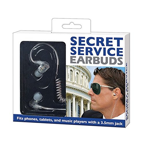 """Secret Service"" Earbuds for Phone Tablet and Music Player w"
