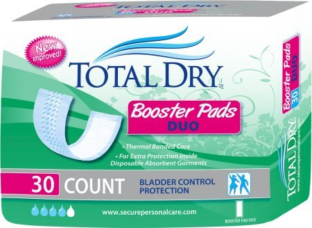 Total Perineal Care - Total Dry Duo Booster Pad 4x12 Case of 180 - Bag of 30