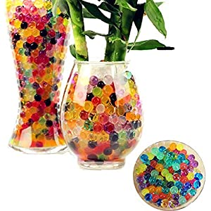 Amazon.com: Awkli 5000pcs Crystal Water Gel Beads Pearls Soil ... on vase fillers michaels, candle filler beads, plant filler beads, bean bag filler beads, pillow filler beads, large faux pearl beads, floating beads, coral water beads, christmas beads, milk bottle filler beads, oversized pearl beads, vase fillers for centerpieces, vase stands walmart, glass beads, plastic filler beads, vase fillers for weddings, extra large acrylic beads, bath beads, water gel beads, moisture absorbing beads,