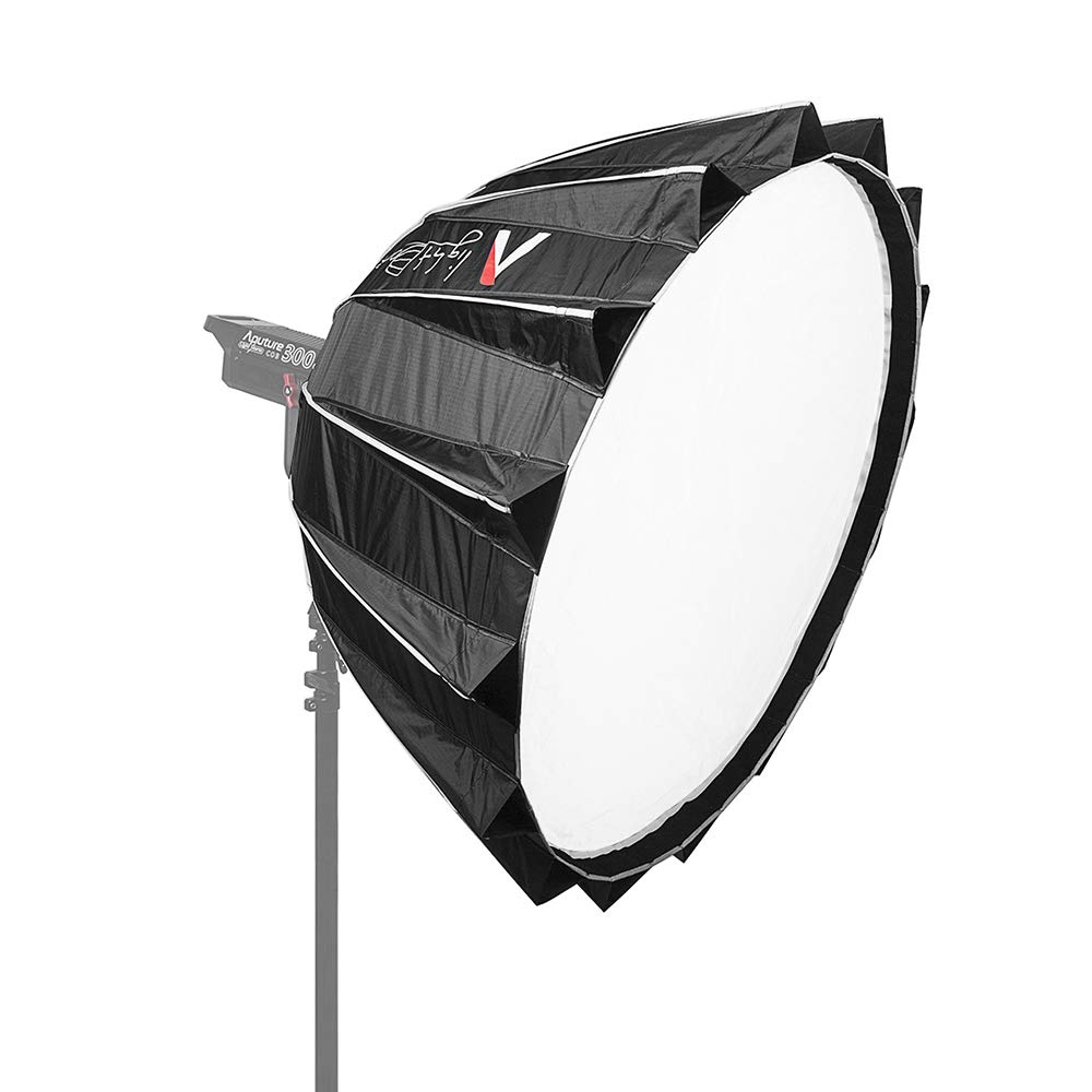 Aputure Light Dome II Studio Reflector Softbox Bowens Mount with Diffuser Cloth Honeycomb Grid Gel Holder Carry Bag for Interviews Filmmaking for Aputure LED Video Light with Andoer Cleaning Cloth