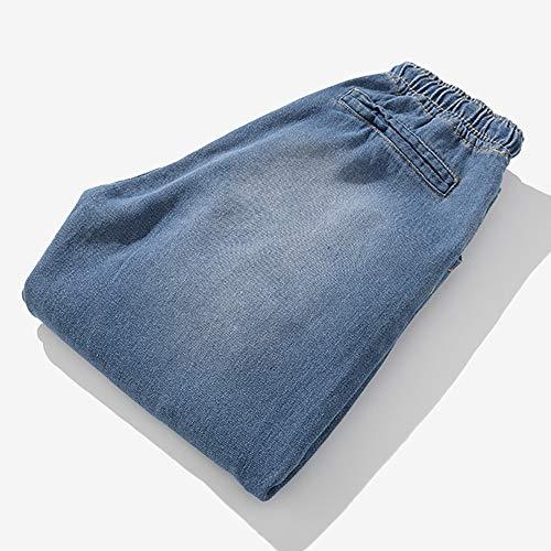 Pantalons Délavé Pantalon Pants Bleached Bleu Travail Trousers De Denim Ciellte Vintage Élastique Jeans Taille Homme Grand rTUzqYr