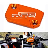 JFG RACING Motorcycle Front Clutch Fluid Reservoir Cover Cap For KTM 125 150 200 250 300 350 400 450 500 505 525 530 SX SXF EXC XCF XC XCW XCF-W EXC-F SXR EXC-R SMR 06-16 Orange