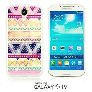 OnlineBestDigital - Geometrical Pattern Hardback Case for Samsung Galaxy S4 IV I9500 / I9505 - Purple Pink Watercolor Aztec Pattern