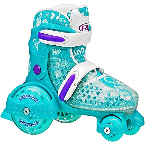 Roller Derby E Z ROLL Adjustable Kids Skate Teal Small 7-11