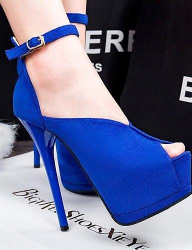 ShangYi Women's Shoes Stiletto Heel Heels/Peep Toe/Platform/Open Toe Sandals Casual Black/Blue/Green/Red/Gray Grey HytVXb28d