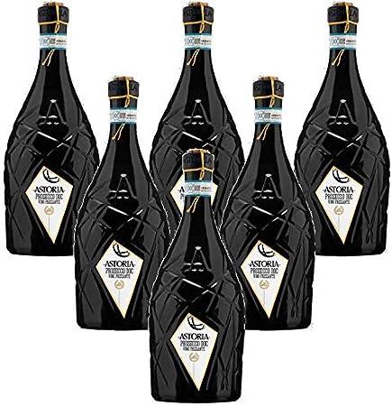 Astor Prosecco Treviso DOC Tapón con cuerda Astoria Vino Espumoso Italiano (6 botellas 75 cl)