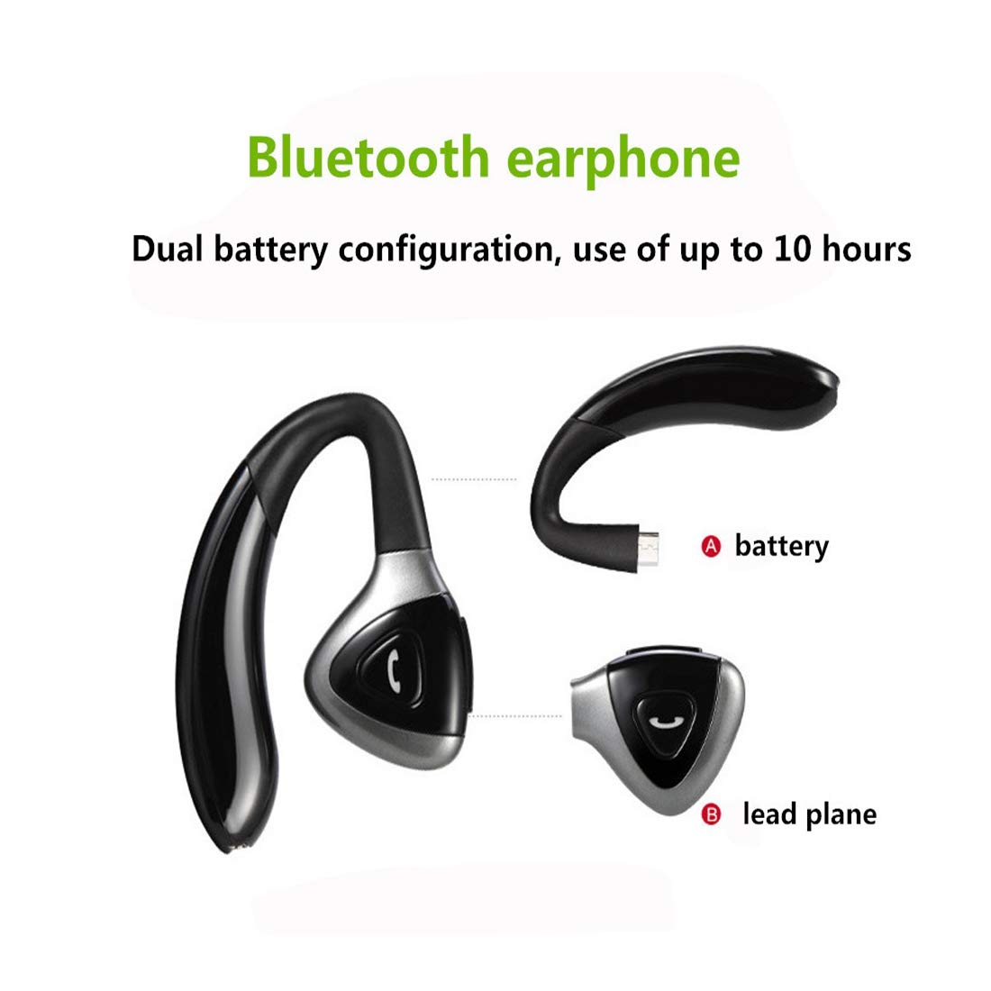 Wireless Earbuds, Bluetooth 4.1 Headphones TWS Stereo Wireless Earphones Sweatproof Bluetooth Earbuds in-Ear Headset Earphones with Case Built-in Mic Deep Bass for Sports Shohotop (Black)