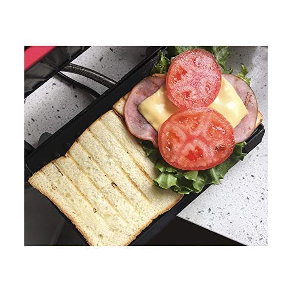 Aigostar Warme 30HHH - Panini Maker/Griglia, Pressa a sandwich, Griglia elettrica, 700 Watt, Fredda al tocco… 4