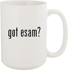 got esam? - 15oz White Ceramic Coffee Mug