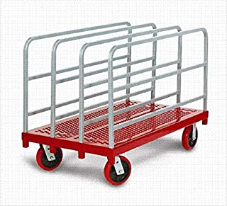 product image for Raymond Products 3911 Heavy Duty Panel/Sheet Mover - 8'' Quiet Poly Casters 2 Fixed and 2 Swivel 4 Uprights