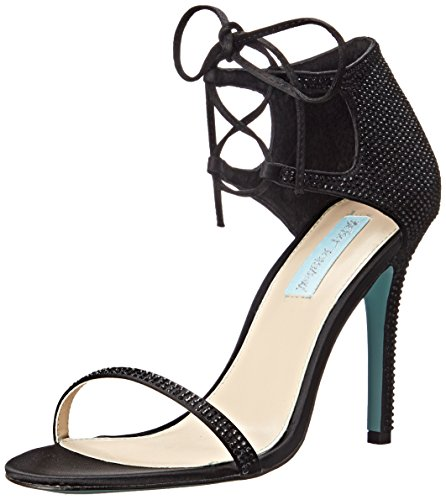 Blu By Betsey Johnson Womens Sb-gabi Abito Sandalo Nero Satinato