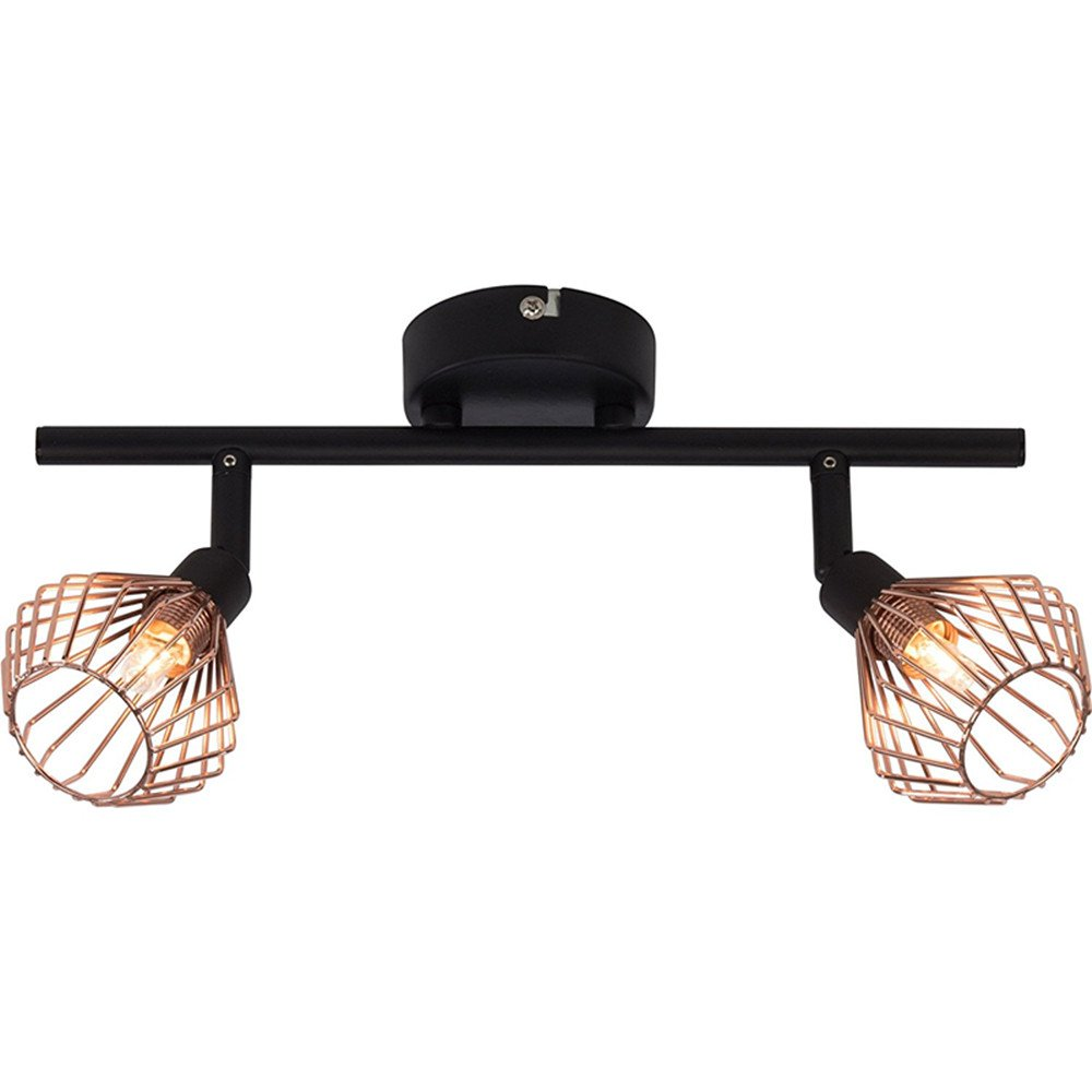 Adjustable Track Lighting Ceiling Light 2-Light Spotlight Track Lights,Iron Art Copper Finish,G9 85-265V,5W Bulb Included