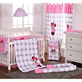 Disney Baby Minnie Mouse Polka Dots Crib Bedding Collection 4 Pc Crib Bedding Set
