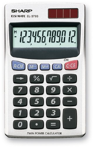57 opinioni per Sharp EL 379 Sb Calcolatrice Tascabile
