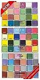 PETAL CRAFTS Palette Dust Set (72 Pack), 48 Matte Colors and 24 Dazzler Colors