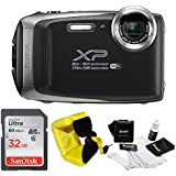 FujiFilm FinePix XP130 Rugged Waterproof WiFi Digital Camera + Focus Floating Strap & Sony 32GB Card Bundle (Dark Silver)