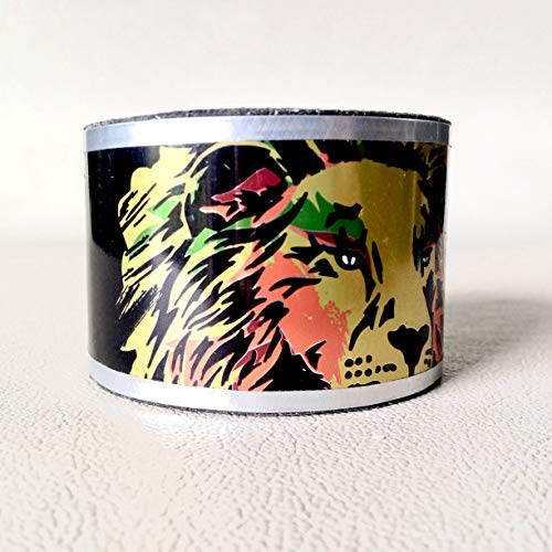 Crafted - Handmade Cuff Bracelet Upcycled from Irie Beer Can ()