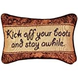 Manual 12.5 x 8.5-Inch Decorative Throw Pillow, Kick Off Your Boots