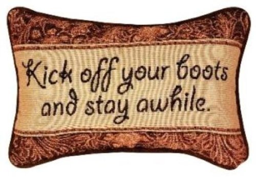 Manual 12.5 x 8.5-Inch Decorative Throw Pillow, Kick Off Your Boots by Manual Woodworker