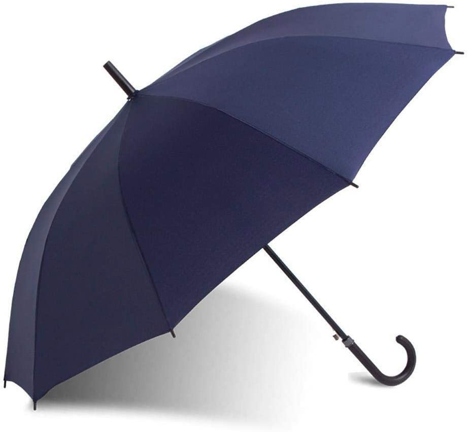 YSLJH Windproof Folding Umbrella Steel Handle Straight Solid Color Business Umbrella Mens Parasol Outdoor Products 96120140cm Multicolor Color : B