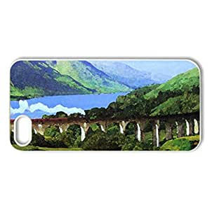 highlands - Case Cover for iPhone 5 and 5S (Mountains Series, Watercolor style, White)