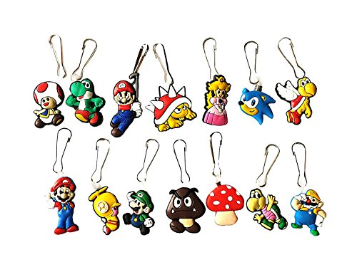 Toad From Mario Costumes (AVIRGO 14 pcs Zipper Pull Set # 69-2)