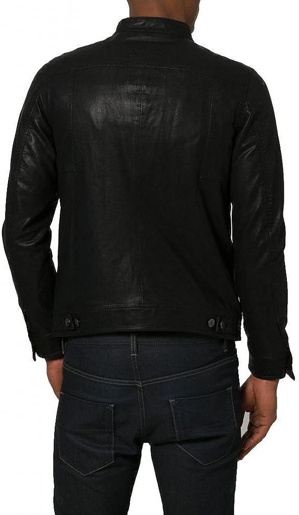 Pristine Leather Mens Biker Genuine Sheep Leather Slim Fit Bomber Party Jacket