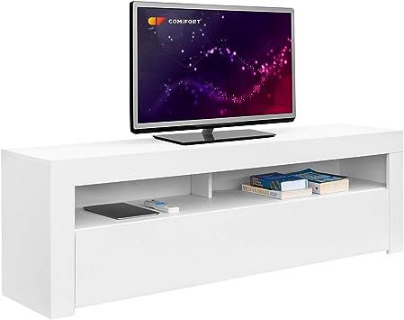 COMIFORT Mueble de TV - Mesa de Salón de Estilo Moderno con ...
