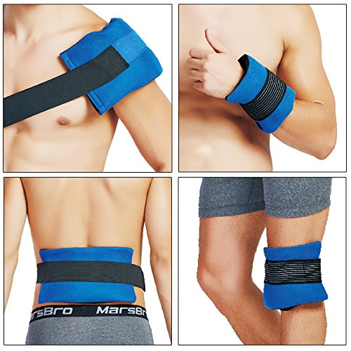 2 Ice Gel Pack and 1 Wrap with Elastic Strap for Hot/Cold Therapy – Reusable Compress Gel Wrap Support Injury Recovery, Cooling Fever, Arthritis Swelling, Alleviate Joint and Muscle Pain
