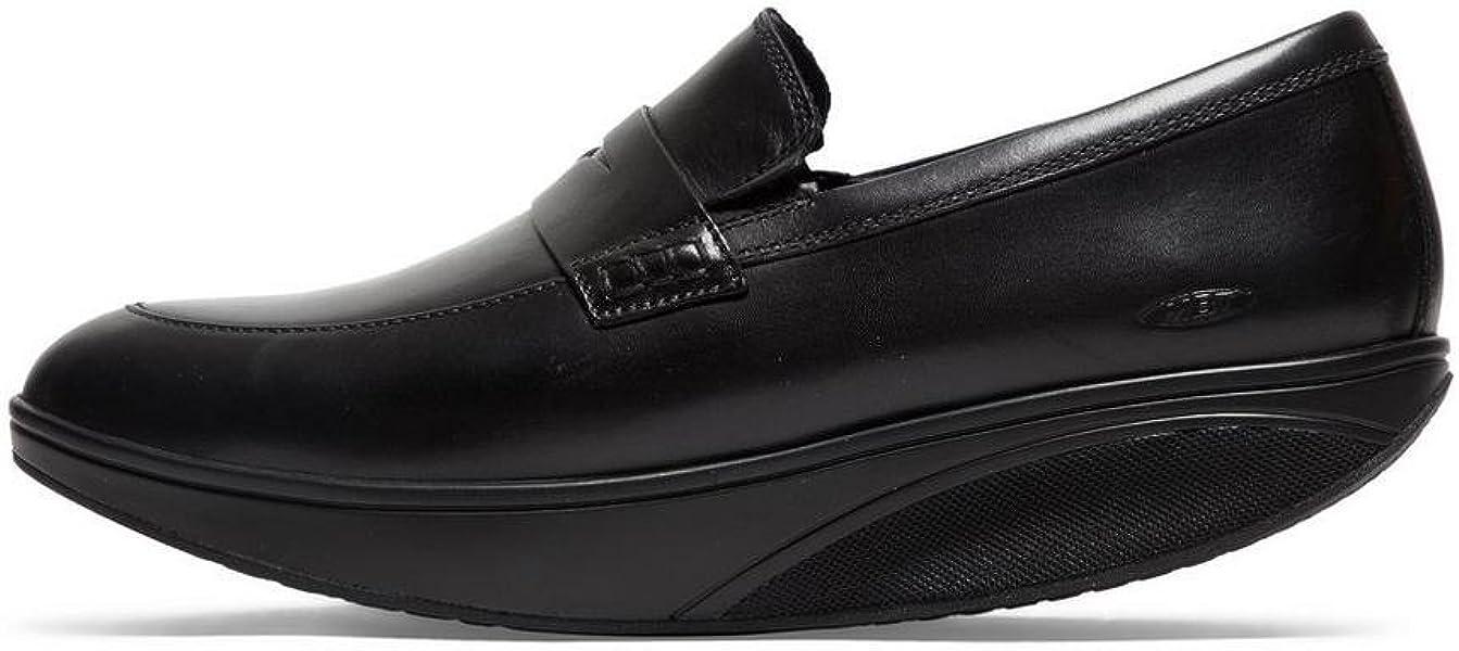 5814075b7f03 MBT Mens Asante 6 Leather Black Shoes 7-7.5 US