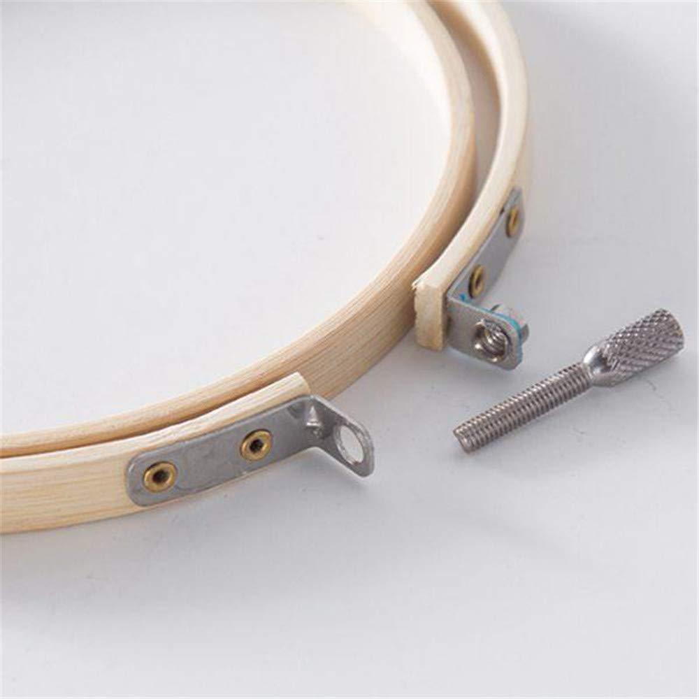 50 hilos de bordado 5 piezas de aros de bamb/ú para bordar 2 piezas de tela Aida y una bolsa de embalaje circular para punto de cruz Kit completo de bordado para principiantes