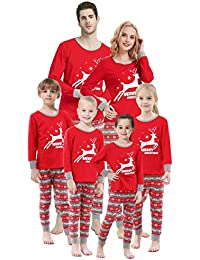 Matching Family Pajamas Christmas Santa Claus Sleepwear Cotton Kids PJs