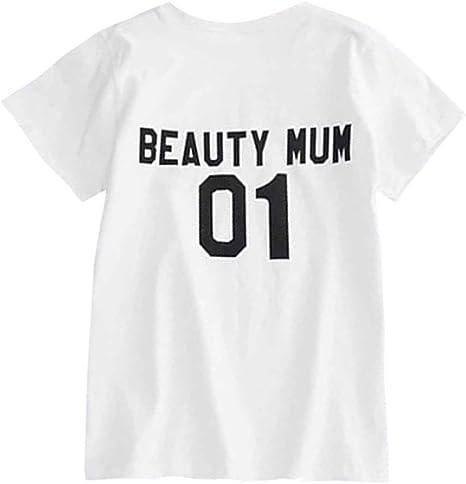 Hongxin - Camisa a Juego con Texto en Inglés Beauty Mum ...