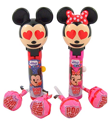 Disney Mickey and Minnie Mouse Emoji Pop Ups Lollipop Cases with 4 Lollipops]()