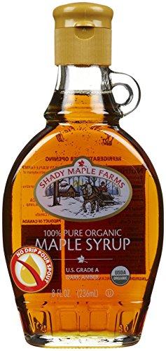 Shady Maple Farms Organic Grade A Dark Glass Maple Syrup, 8 - Shady Glasses