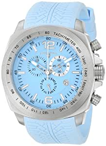 "Swiss Legend Men's ""Sprinter"" Stainless Steel and Light Blue Silicone Light Blue Dial Watch"