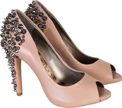 1b6b79815 Sam Edelman Womens Lorissa Studded Nude Court Heel Shoes (5.5 ...