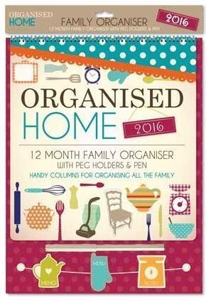 12 Month Family Planner Organiser 2016 Calendar Day To Day Pen & Peg...