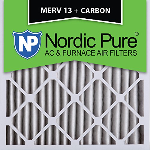 Nordic Pure 20x20x2M13+C-3 MERV 13 Plus Carbon AC Furnace Air Filters, Qty-3